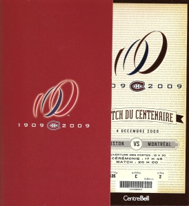 Centennial Game Ticket